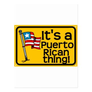 Es una cosa puertorriqueña postales