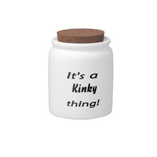 ¡es una cosa rizada! jarra para caramelo
