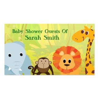 Es una fiesta de bienvenida al bebé de la selva tarjetas de visita