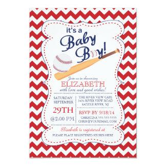 Es una fiesta de bienvenida al bebé del béisbol invitación 12,7 x 17,8 cm