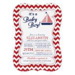 Es una fiesta de bienvenida al bebé náutica del ve