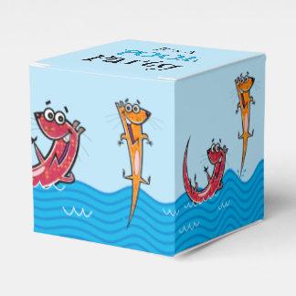Es una fiesta en la piscina con las nutrias caja para regalos