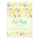 Es una invitación de la fiesta en la piscina de la invitación 12,7 x 17,8 cm