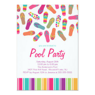 Es una invitación de la fiesta en la piscina del