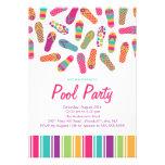 Es una invitación de la fiesta en la piscina del f