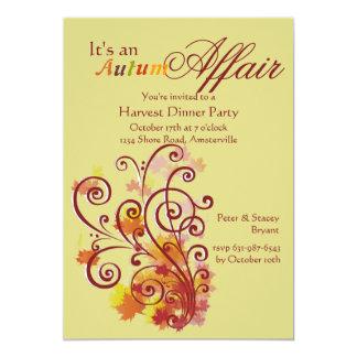 Es una invitación del asunto del otoño invitación 12,7 x 17,8 cm