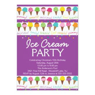 Es una invitación del fiesta del helado del verano