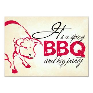 Es una invitación picante del fiesta del Bbq y del