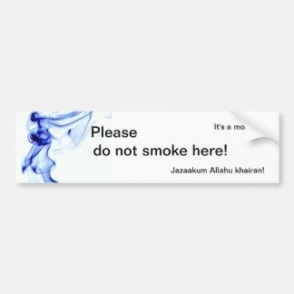 ¡Es una mezquita - no fume por favor aquí! Pegatina Para Auto