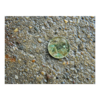 Es una moneda de diez centavos impresiones