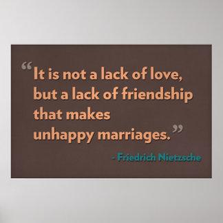 Es una no falta de amor, sino una falta de amistad posters
