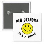 Es una nueva abuela de la nueva niña pin
