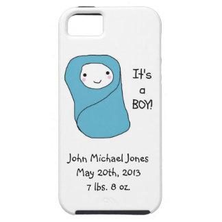 Es una nueva invitación del nacimiento del bebé de iPhone 5 protector