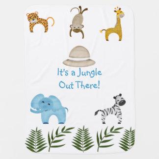 ¡Es una selva hacia fuera allí! Mantas De Bebé