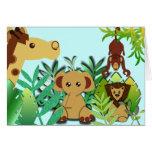 Es una selva tarjeta de felicitación