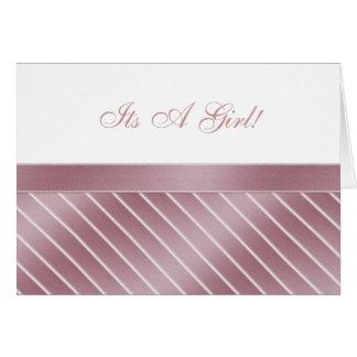 Es una tarjeta del chica
