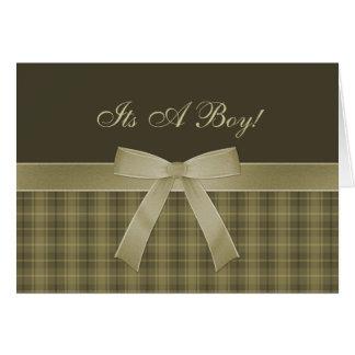 Es una tarjeta del muchacho