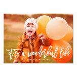 """Es una tarjeta maravillosa de la foto del navidad invitación 5"""" x 7"""""""