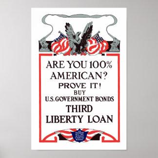 ¿Es usted americano del 100%? Compre enlaces Posters