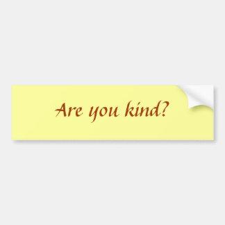 ¿Es usted bueno? Pegatina Para Auto