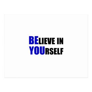 Es usted. Crea en sí mismo Postales