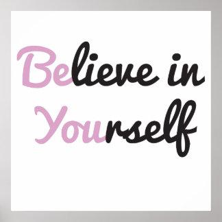 Es usted, cree en sí mismo poster