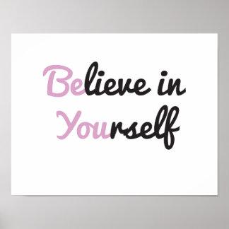 Es usted, cree en sí mismo impresiones