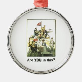 """""""Es usted en esto?"""" 1915, museo imperial de la Adorno Navideño Redondo De Metal"""