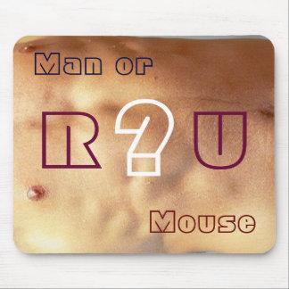 ¿Es usted hombre o el ratón? Tapete De Ratones