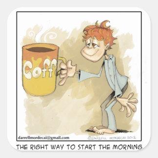 ¿es usted un adicto al café? pegatina cuadrada