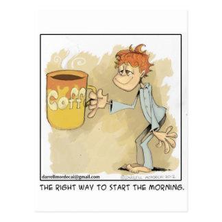 ¿es usted un adicto al café? tarjetas postales