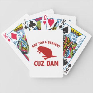 ¿Es usted un castor? Presa de Cuz Baraja Cartas De Poker