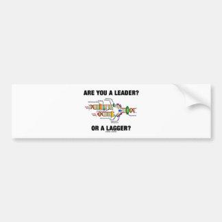 ¿Es usted un líder? ¿O un Lagger? (Réplica de la D Pegatina Para Auto