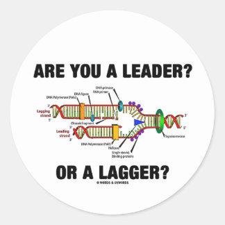 ¿Es usted un líder? ¿O un Lagger? (Réplica de la Pegatina Redonda