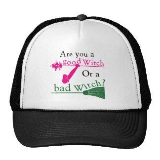¿Es usted una buena bruja o una mala bruja? Gorras De Camionero