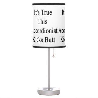 Es verdad este extremo de los retrocesos del lámpara de mesa