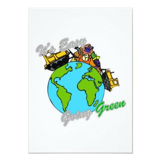 """Es verde tolerante limpia el planeta 2 invitación 5"""" x 7"""""""