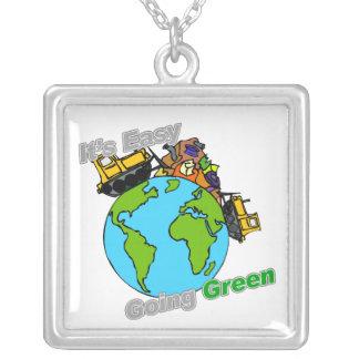 Es verde tolerante limpia el planeta collares personalizados