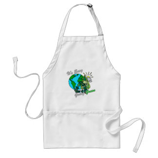 Es verde tolerante recicla 2 delantal