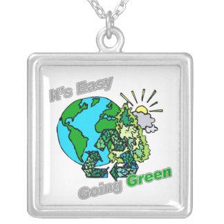 Es verde tolerante recicla joyería