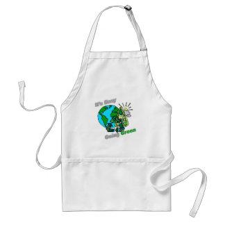 Es verde tolerante recicla delantal