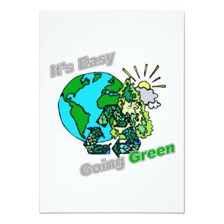 """Es verde tolerante recicla invitación 5"""" x 7"""""""