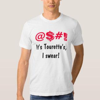 Es yo de Tourette jura las camisetas divertidas Polera