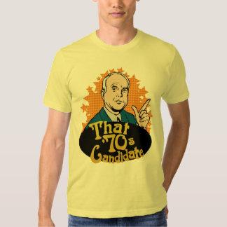 Esa camiseta del candidato de los años 70 remera