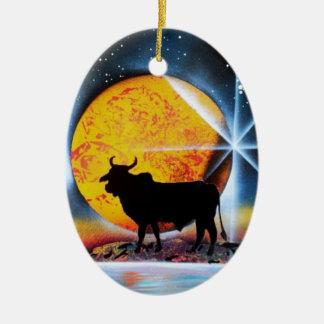 Ésa es Bull Ornamento Para Arbol De Navidad