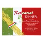 Ésa es invitación italiana del fiesta de cena del invitación 12,7 x 17,8 cm