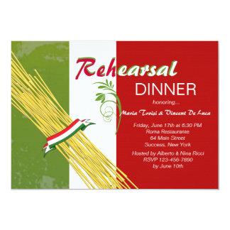 Ésa es invitación italiana del fiesta de cena del