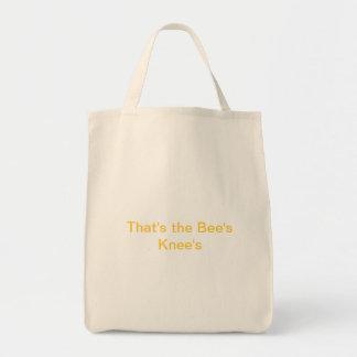 Ésa es la rodilla de la abeja bolsa tela para la compra