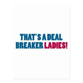 ¡Ésa es señoras de un triturador del trato! Tarjetas Postales