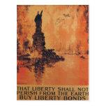 Esa libertad no fallecerá de la tierra tarjeta postal